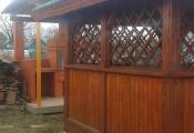 Деревянная беседка из перголы в Чехове